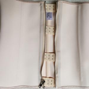 Image 5 - ラテックスウエストトレーナーバインダーシェイパーボディボディニッパージッパー鋼骨痩身シースモデリングストラップベルトコロンビアガードル