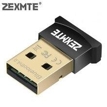 Zexmte USB Bluetooth Adapter Dongle CSR 4.0 Bluetooth 4.0 For Windows10/8/7/Visa/XP Desktop Laptop Mouse and Keyboard Audio