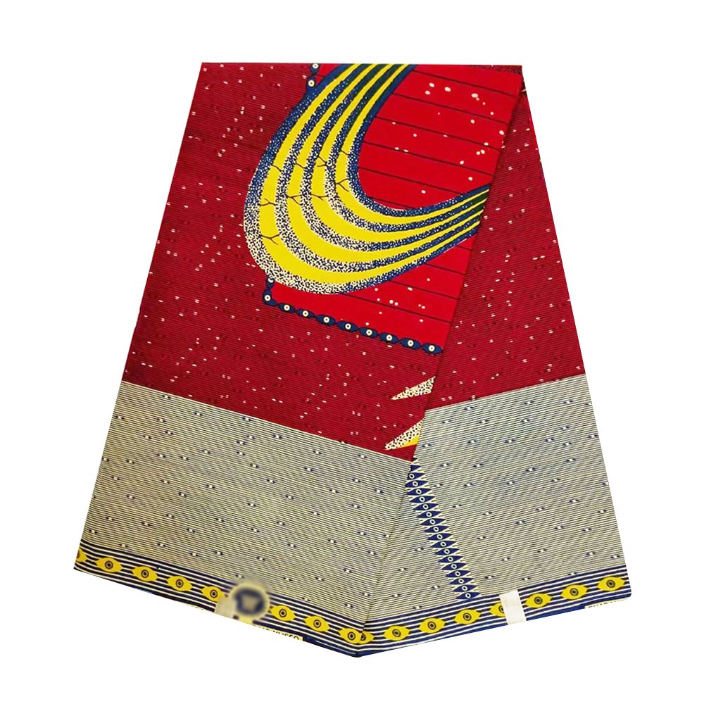 New Ghana African Super Wax Fabric Cotton Veritable Dutch Block Print Nigerian Ankara Tulle Wax Pange Materials For Dress Party
