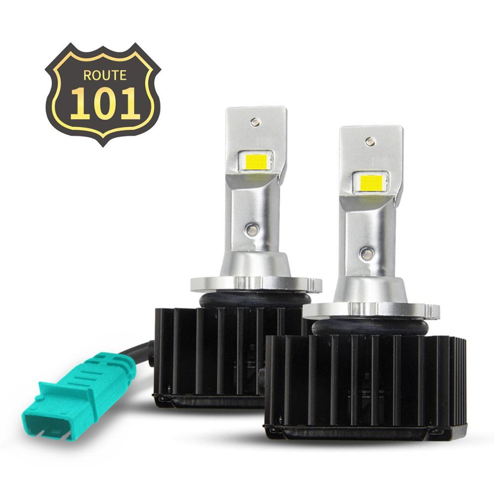 Автомобильная светодиодная лампа Route101, D1S, D2S, D3S, D4S, D2R, D5S, D8S, CanBus, без ошибок, HID, автомобильная лампа до 6000K, белая, 35 Вт, комплект для преобразов...