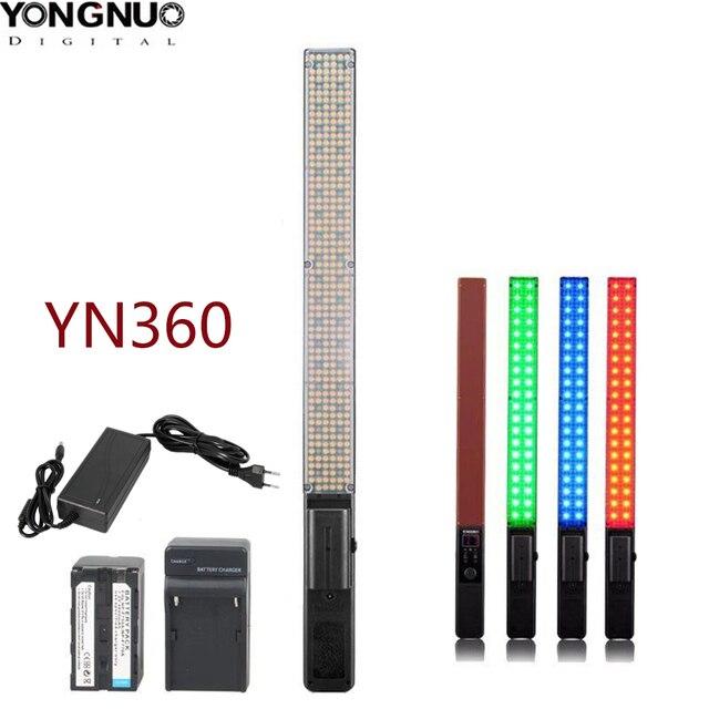 永諾 YN360 LED アイススティックビデオライトハンドヘルド LED 写真スタジオ照明 2 色 3200k に 5500k RGB 色温度