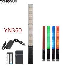 Yongnuo YN360 LED קרח מקל וידאו אור כף יד LED צילום סטודיו תאורה דו צבע 3200k 5500k RGB טמפרטורת צבע