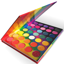 35 farben Regenbogen Lidschatten-palette Helle Shades Matte Schimmer Glitter Make-Up Lidschatten Pallete Private Label Kosmetik