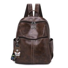 Women PU Leather Backpack Bag Large Capacity Waterproof Travel Backpack Fashion Girls Backpack School Bags for Teenage Girls 2017 embroidered backpack women pu leather shoulder bag fashion ladies backpack travel bag school bags for teenage girls gift
