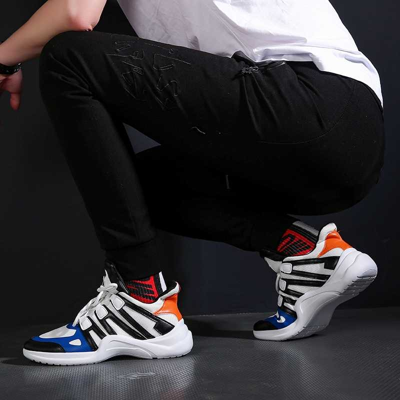 QWEDF Men Shoes Spring and autumn Sneakers Casual Shoes Men Comfortable Zapatillas Hombre Deportiva Hombre Casual 2019 XX-075