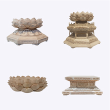 Statue-Base Buddha-Tools Wood-Carving Guanyin Custom for Lotus-Stand Heightening