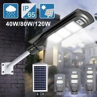40W/90W/120W LED Solar Light Street Light Infrared Human Body Induction Solar Wall Lamp Security Waterproof Garden Yard Lamps