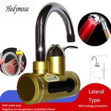 Red Water Heaters Faucet Electric Heating Temperature Display Kitchen Instant Hot/ cold Tap Tankless Instant Shower Colorful