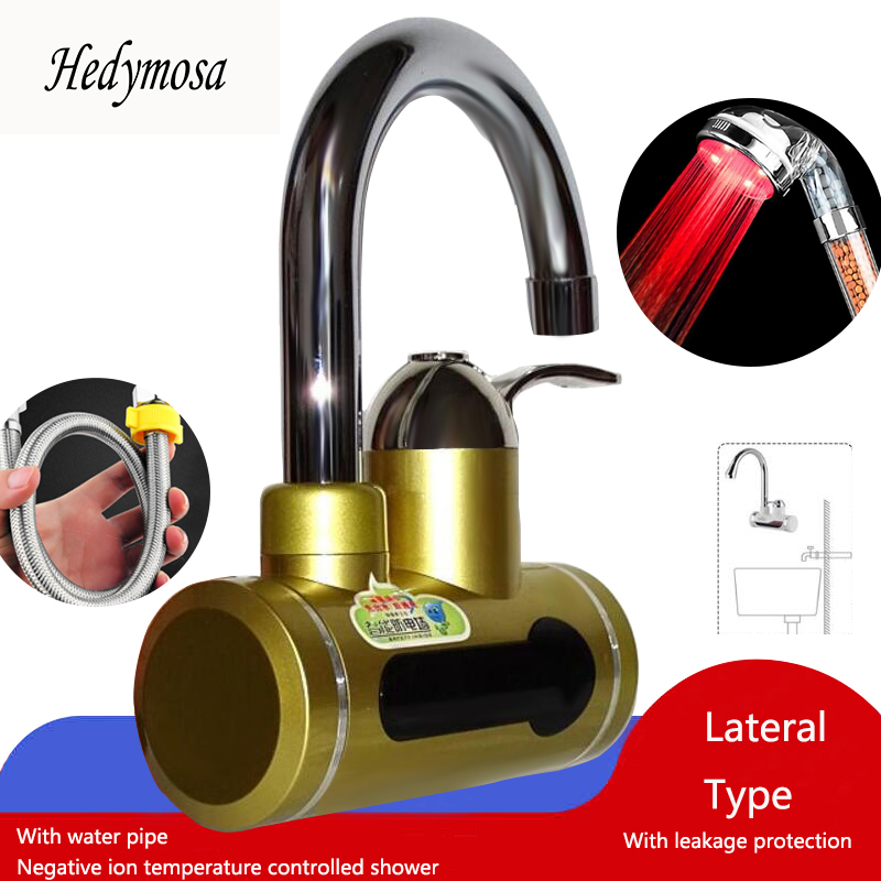 Water Heaters Faucet  3 Seconds Warming 0-60 Degrees Celsius 50-80L 220V 50HZ Stainless Steel Liner Digital Display Series