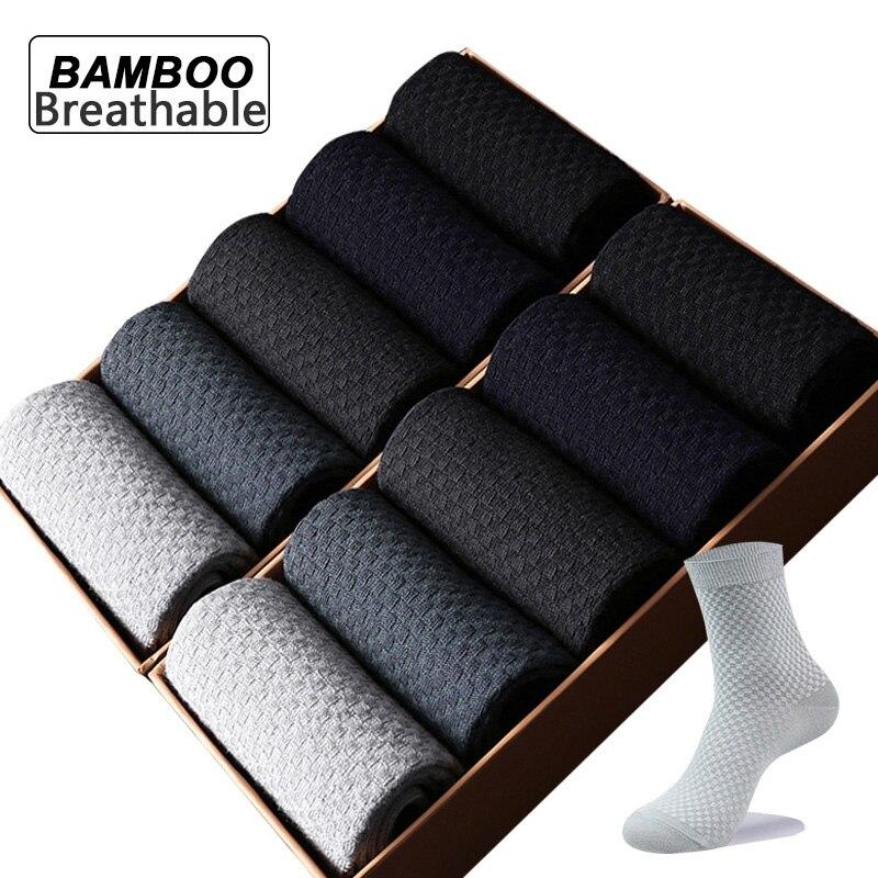 5 парт/лот мужские носки из бамбукового волокна, мужские компрессионные длинные носки Harajuku, деловые повседневные большие модные