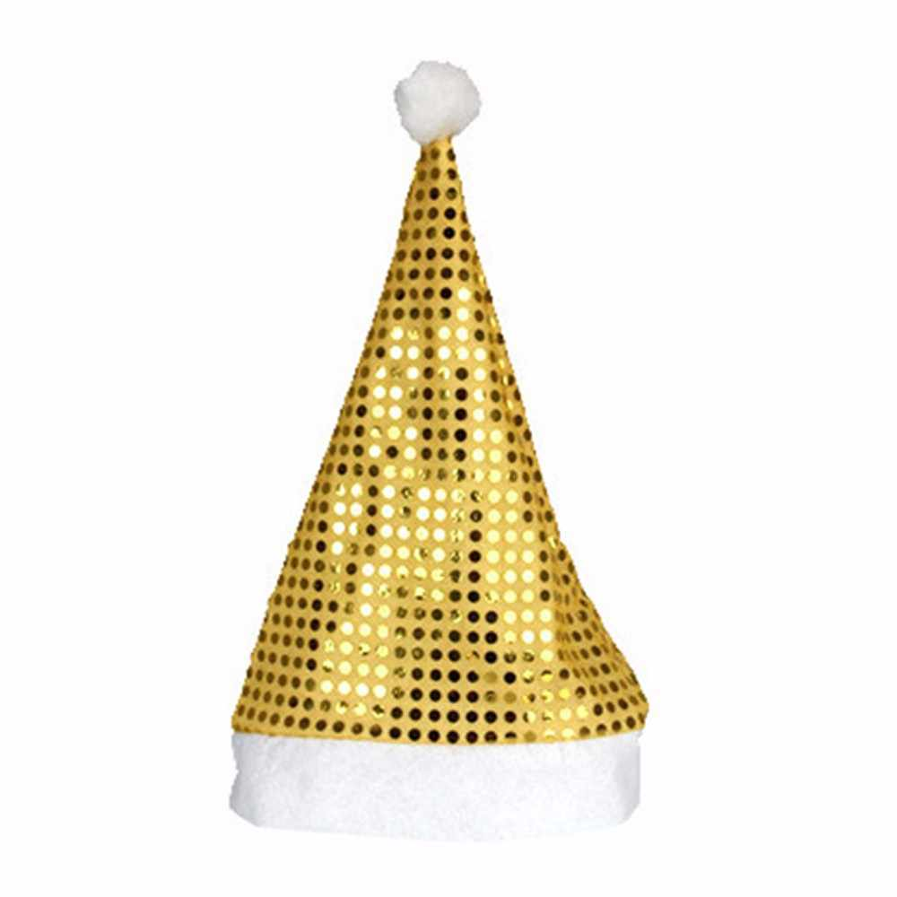 Santa Topi Musim Dingin Hangat Bola Lembut Plush Natal Topi Liburan Bintang Gambar Xmas Cap untuk Santa Claus Hadiah Cap Nonwoven