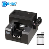 A4 cylindrical UV printer, 2 in 1 flat cylindrical UV printer, small UV printer with free rotating bracket and ink