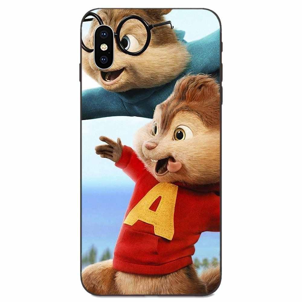 Para Galaxy A10S A20S A2 Core A30S A40S A50S A70S A90 5G M10 M30S M40 Nota 10 Plus TPU cubre Alvin y las ardillas ratón