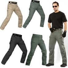 Мужские Водонепроницаемые штаны, S-5XL, для спорта на открытом воздухе, кемпинга, верховой езды, тактические походные брюки, армейские тренировочные военные спортивные брюки для пеших прогулок