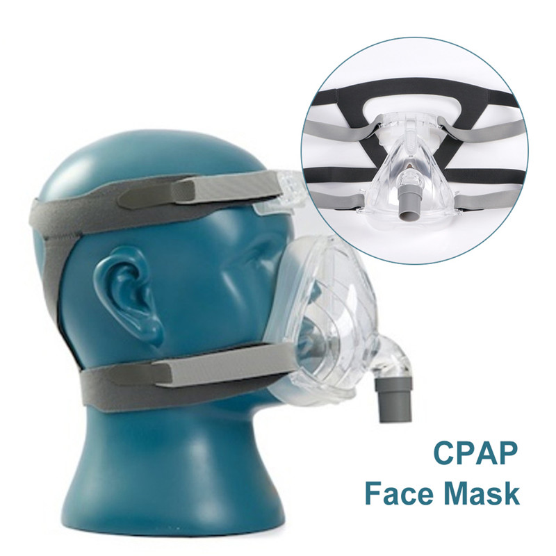 Full Face CPAP Mask Auto with Adjustable Headgear Strap Clip for Sleep Apnea Patient 2