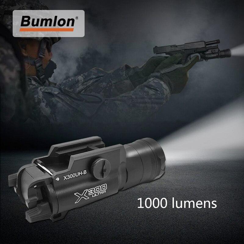 arma tatica luz x300uh b x300u x300 lanterna pistola branco led caca lanterna para 20mm picatinny