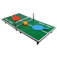 Mini Portable Tabletop Table Tennis Ping Pong Board Game Set for Kids Toys Family Party Fun