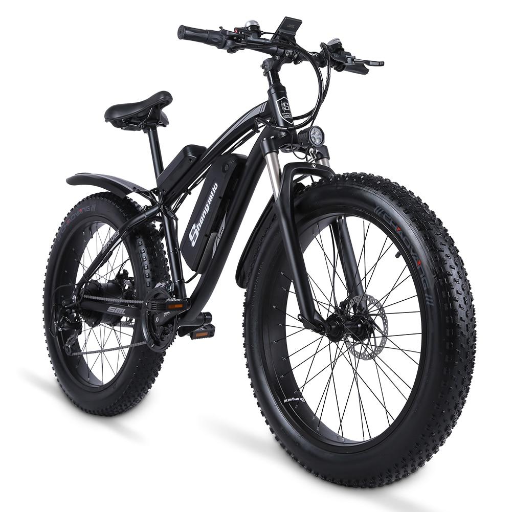 Shengmilo Электрический велосипед 1000 Вт Мужской горный велосипед Снежный велосипед электрический велосипед Ebike 48V17Ah Электрический велосипед 4,0 ...