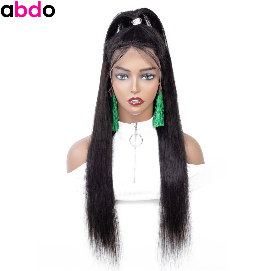 13*4 Straight Lace Front Wig With Baby Hair Long Lace Front Human Hair Wigs For Black Women Malaysia Remy 28 30 Inch Wigs Abdo