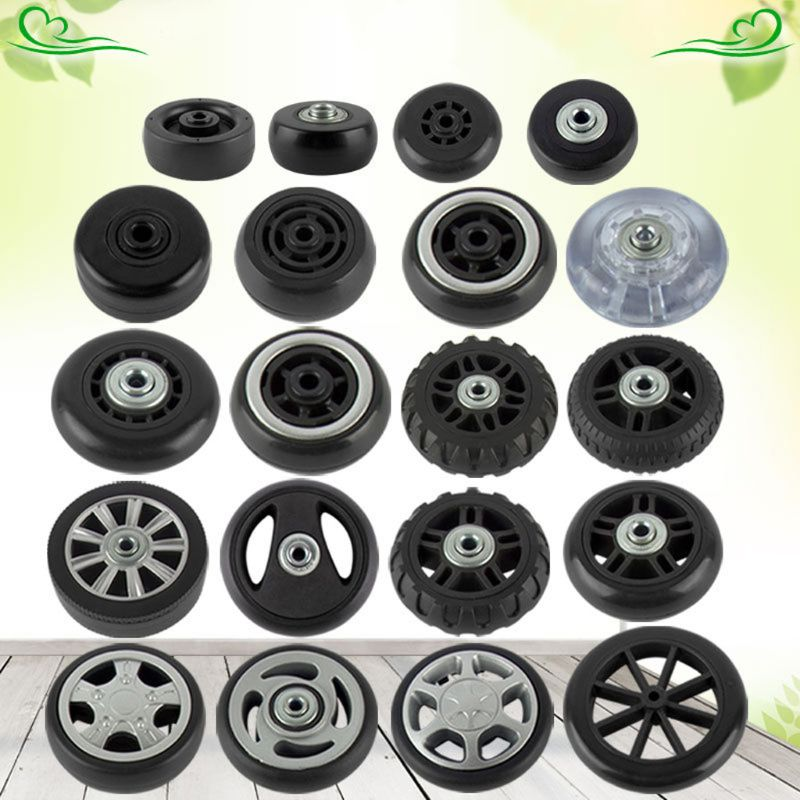 1PC Luggage  Plastic Swivel Wheels Rotation Suitcase Replacement Casters Q1QA