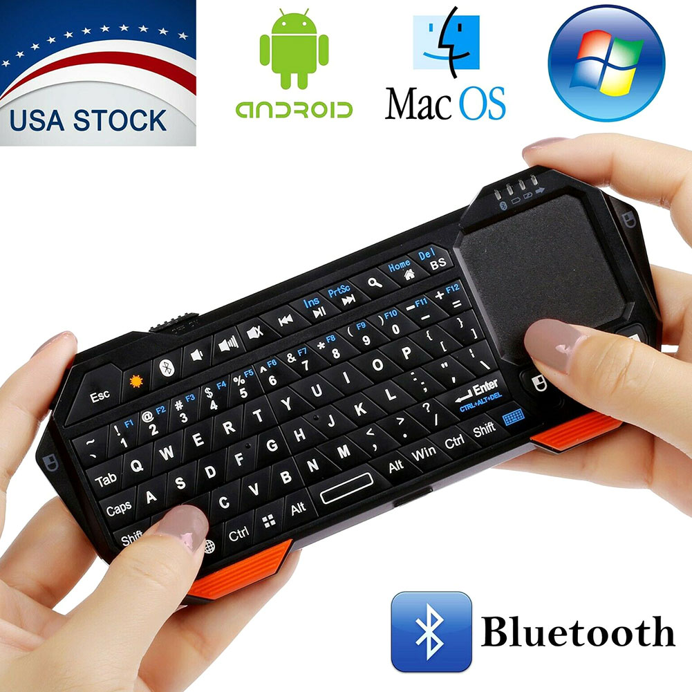 Teclado Bluetooth com Touchpad backlight Handheld Mini teclado para Smart TV Projetor Compatível com Android iOS do Windows