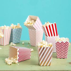 12PCS DIY Popcorn Boxes Pop Corn Favor Bags for Candy Snack Baby Shower Supplies Christmas/Birthday/Wedding Party Decoration(China)