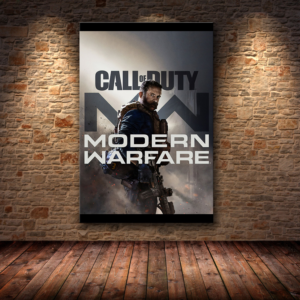 2019 Call Of Duty Modern Warfare Wall Art Canvas Poster And Print Canvas Painting Decorative Picture For Bedroom Home Decor Painting Calligraphy Aliexpress