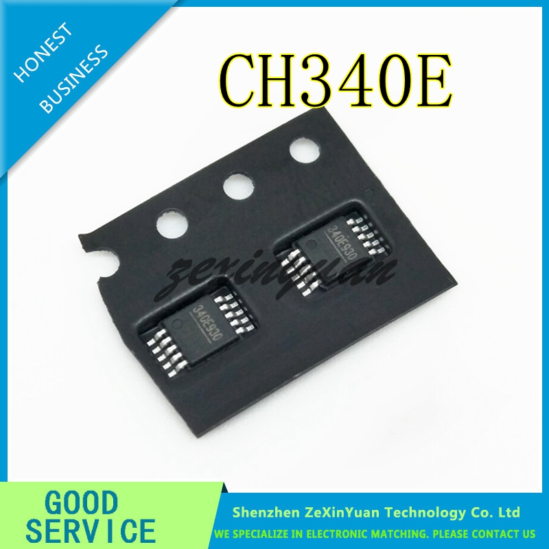 CH340E MSOP-10 USB Small Volume Can Replace CH340G Built-in Crystal Oscillator