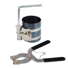 цена на 2Pcs Ratchet Style Piston Ring Compressor and Piston Ring Installer Pliers Tool