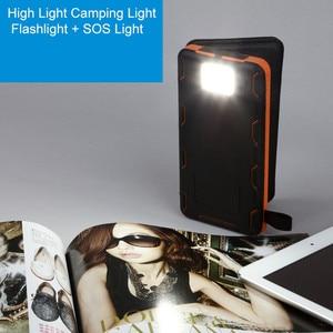 Image 4 - Cargador de teléfono inalámbrico Qi, Banco de energía Solar a prueba de agua, batería externa de 8000mah, Cargador rápido para Xiaomi Mi