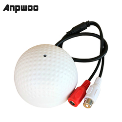 ANPWOO Audio Monitoring MIC Sound Pickup Microphone for CCTV Surveillance Security IP Camera Built in Preamp Wired Voice Monitor