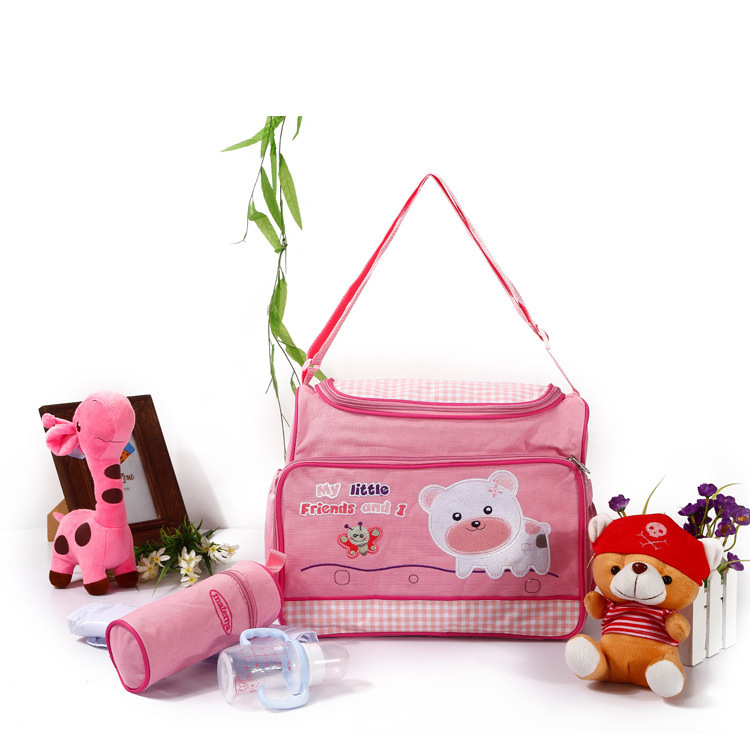 New Style Fashion Cartoon Pattern Diaper Bag Shoulder Bag/ Hand Bag Multi-functional Water Resistant Mommy Bag