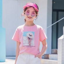 2020 novas meninas t verão personagem impressão camiseta moda crianças roupas de algodão puro manga curta topo pele-amigável t