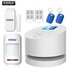 KERUI – système d'alarme de sécurité avec écran LCD couleur TFT, wi-fi, GSM, PSTN, pour le bureau, ios, android, télécommande, avec caméra ip, nouveauté