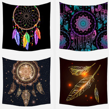 Tapestry Bohemian-Decoration Wall-Hanging Psychedelics-Polyester Moon-Pendant Bedroom
