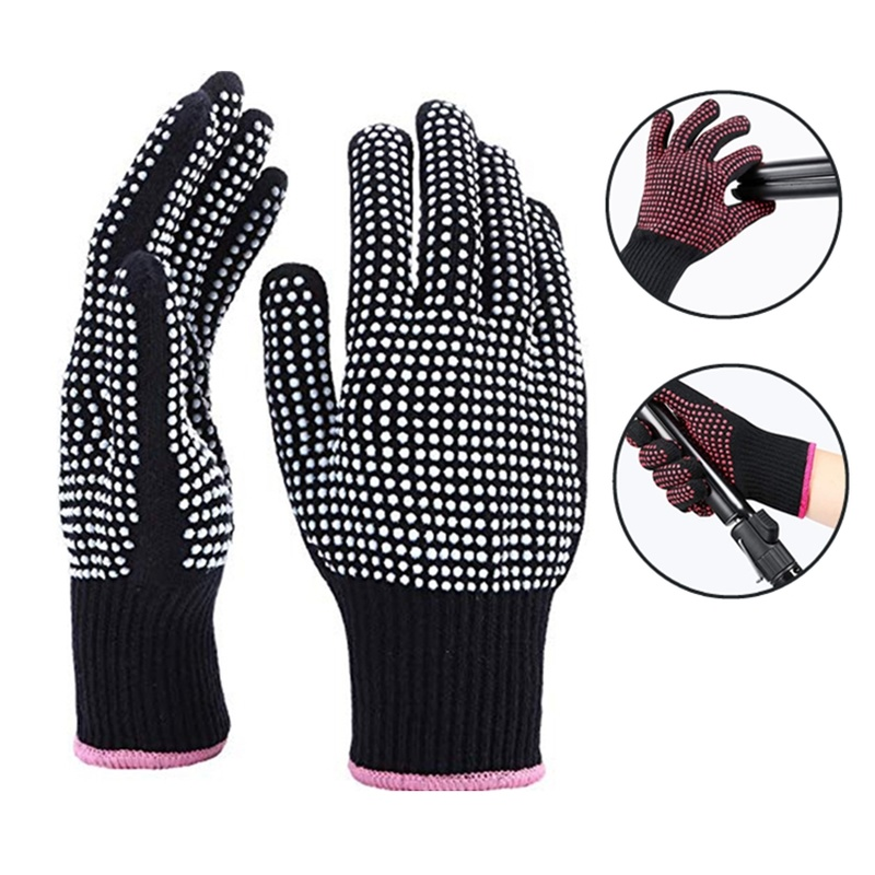 1PCs Hair Straightener Perm Curling Hairdressing Heat Resistant Finger Glove Hair Care Styling Tools Thermal Styling Gloves