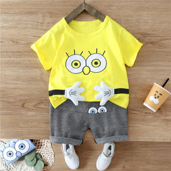 New Summer Baby Clothes Suit Children Fashion Boy Girls Cartoon T Shirt Shorts 2Pcs/sets Toddler Casual Clothing Kids Tracksuits new spring autumn girls clothing sets kids sports suit casual girls cartoon t shirt pant 2pcs children clothes 4 6 8 10 12 years