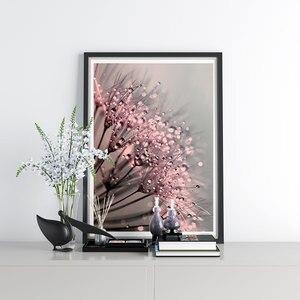 Одуванчик росы плакат фигурка растения холст живопись цветы настенное искусство природа художественная стена с цитатой картины для гостин...