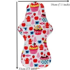 Image 4 - [Simfamily] 10 pçs orgânico bambu carvão lavável higiene almofadas menstruais fluxo pesado almofadas sanitárias senhora almofada de pano almofadas reutilizáveis