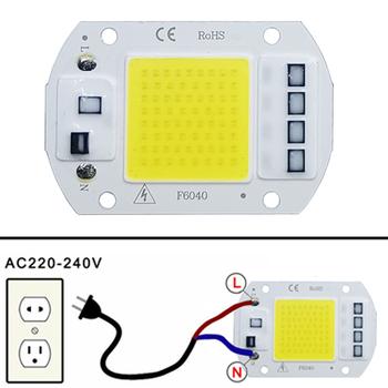 LED COB koralik świetlny 10W 20W 30W 50W AC 220V 240V IP65 inteligentny IC nie ma potrzeby kierowcy DIY reflektor szerokostrumieniowy Led żarówka Spotlight zewnętrzna lampa układowa tanie i dobre opinie Rosensuotich Piłka new-22 240 v 30000 120° Real 10w 20w 30w 50w Aluminum Smart IC Easy to DIY No need driver 2700K~6500K