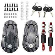 Universal Racing Car Hood Pin Bonnet Latch Lock Kit & Keys Locking Carbon Fiber Mount Accessories For Ford Mazda Kia Renault