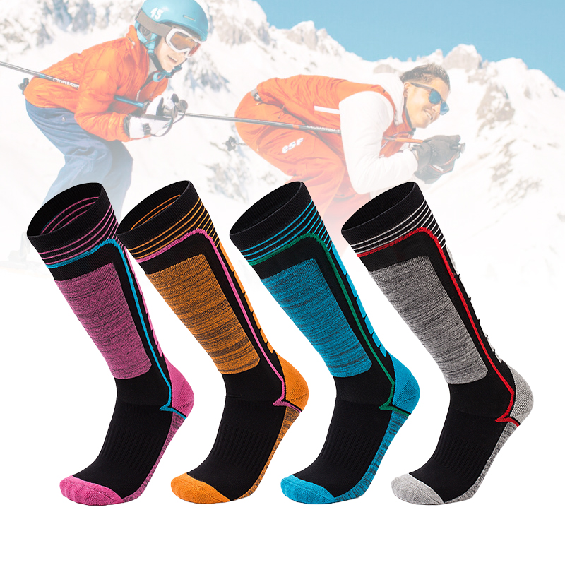 LOOZYKIT Winter Warm Sports Socks Men Thickening Terry Thermo Sock Skiing Outdoor Thermal Sock High Warmth Snow Hiking Sport