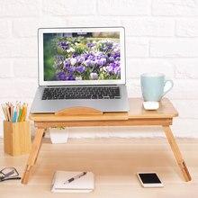 1Pc regulowany stół Laptop łóżko biurko bambusa stojak półka do sypialni łóżka biurko przenośny notatnik do czytania stojak na tace tabeli
