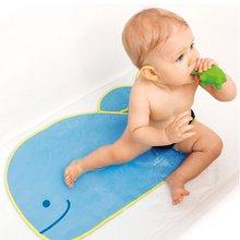 Alfombra azul mientras está en el baño Pvc sensible al calor antideslizante bebé niños alfombra de baño color cambio de temperatura del agua