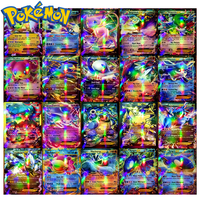 Original Takara Tomy Pokemon Cards Pokecard Shining Cards 20/60/100/200pcs GX No Repeat Game Collection Cards