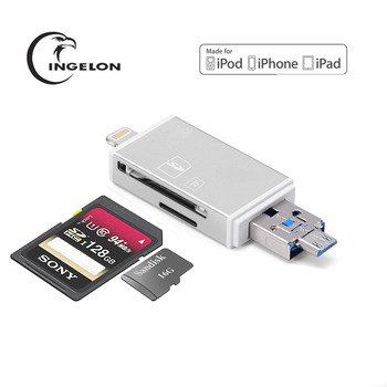 Ingelon micro sd Adapter kelima silver memory card iphone otg Smart usb Card reader Computer Accessories for laptop accessories