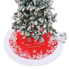 Красная рождественская елка юбка полотняные фартуки круглый ковер для дома вечерние коврики Decortaion