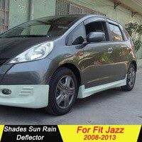 Use For Honda FIT JAZZ 2008 2013 Plastic Window Visor Vent Shades Sun Rain Deflector Guard Auto Accessories 4PCS/SET