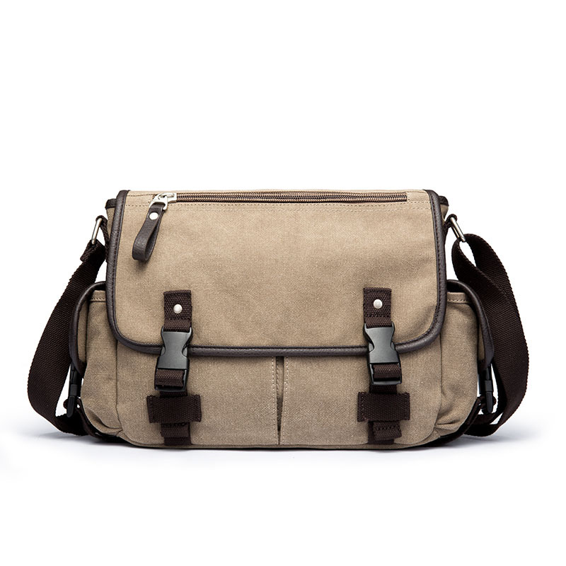 2019 Men Leisure Canvas Bag Multifunction Laptop Crossbody Handbag Travel Bags Fashion Canvas Crossbody Bags
