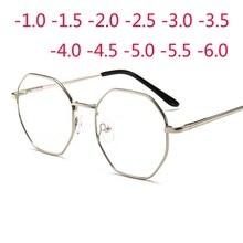 Polygonal Women Men Glasses Lady Luxury Retro Metal Eyewear